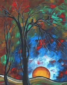colorful abstract paintings abstract original colorful bird painting