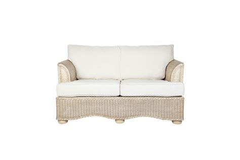 brook wicker rattan conservatory furniture small sofa