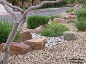 Large Rocks For Gardens Xeriscaping Low Water Use Planting Display In New Mexico With Large Decorative Landscaping Rocks