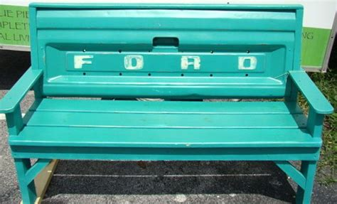 bench made from truck tailgate custom bench made with ford truck tailgate painted in florence chalk