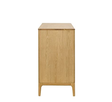 rimini 4 drawer low wide chest chests of drawers ercol