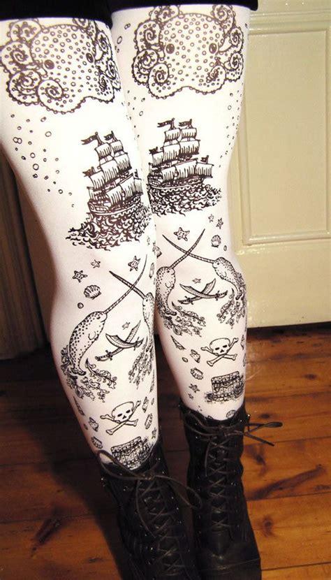 small sailor tattoos pirate printed tights womens sailor tattoos small medium