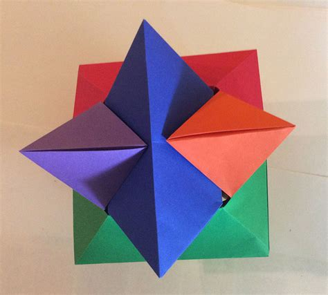 Puzzle Origami - origami burr puzzle froy folded by walls ez
