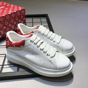 Converse Lv Supreme White shop mcqueen sneakers on wanelo