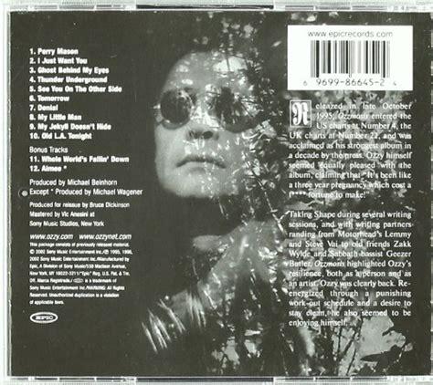 Cd Ozzy Osbourne Ozzmosis ozzy osbourne album 171 ozzmosis 187