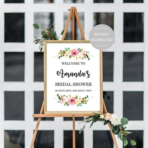 bridal shower welcome sign template bridal shower welcome sign bridal shower sign printable