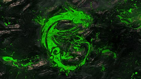 green wallpaper video games msi s desktop background recolored as razer s green