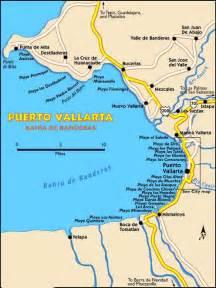 banderas map maps of vallarta vallarta mexico