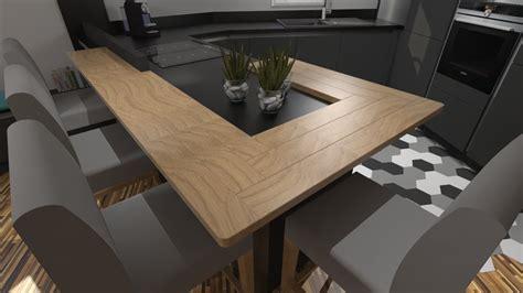Agréable Pierre Pour Plan De Travail Cuisine #6: Plan-de-travail-en-bois-massif-pour-cuisine-moderne.jpg