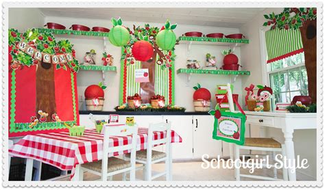 classroom theme decorations apple theme schoolgirlstyle