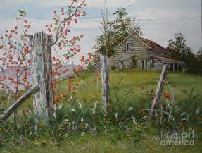 Rustic Barn Plans Berry Barn Painting By Val Stokes