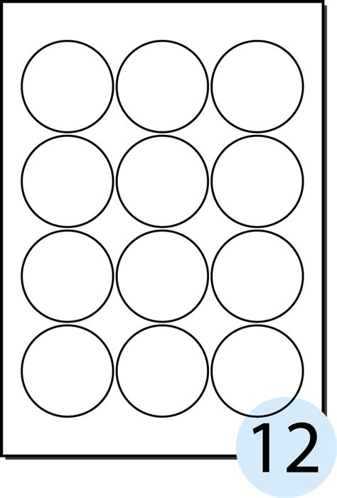 28 2 circle label template templates round labels foil
