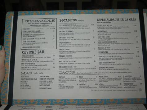 camino menu menu picture of dos caminos new york city tripadvisor