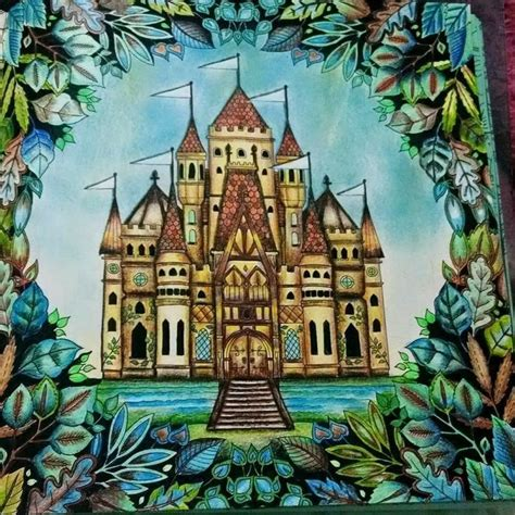 enchanted forest colored enchanted forest coloring book colored s 248 gning