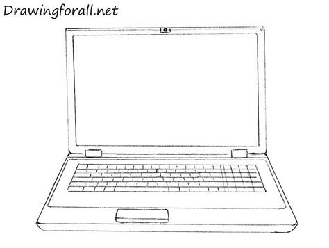 Drawing Computer by How To Draw A Laptop Drawingforall Net