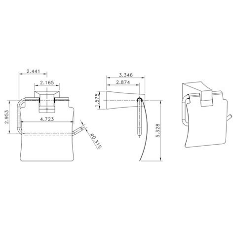 Rectangle Toilet Rack american imaginations ai 13510 single rod towel rack with
