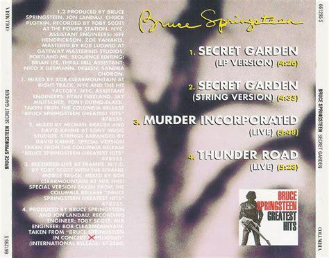 Bruce Springsteen Secret Garden Lyrics by Bruce Springsteen Secret Garden