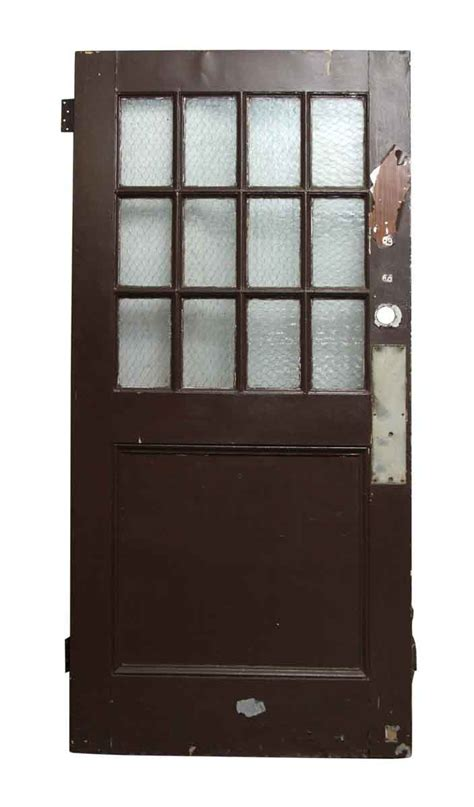 Wood Door With Glass Panel Wooden Doors With Chicken Wire Glass Panels Olde Things