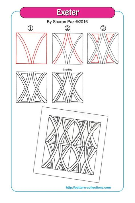 doodlebug exeter beautiful zentangle patterns and step by step on