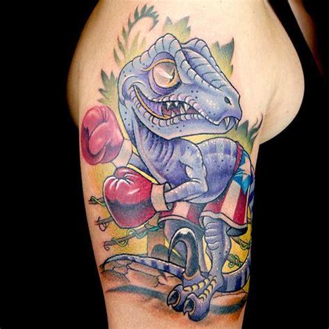 new school dinosaur tattoo elimination tattoo new school dinosaurs caricatures