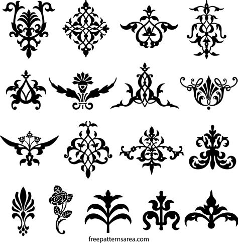 decorative elements  floral ornament vector designs