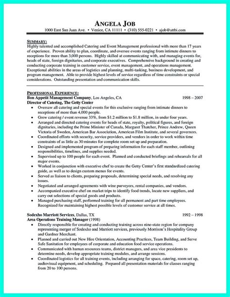 attractive simple catering manager resume tricks 1000 ideas about career objectives sles on