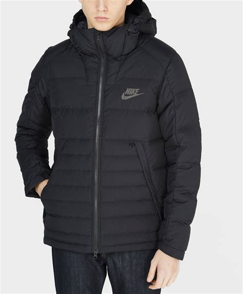 lyst nike padded  jacket  black  men