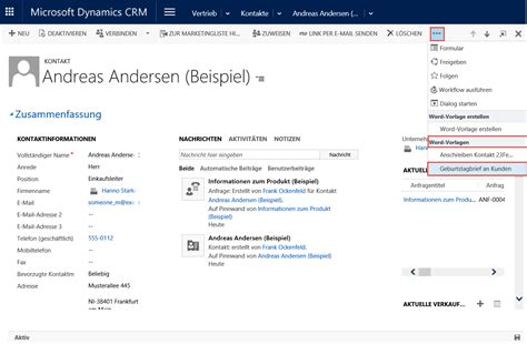 Brief Word Einstellungen Die Neuen Word Vorlagen In Dynamics Crm 2016
