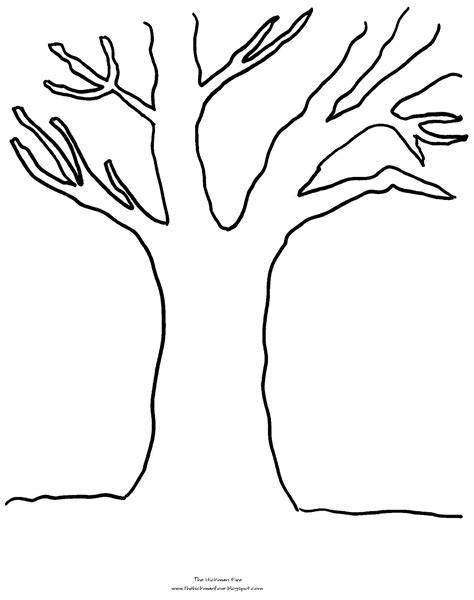 preschool coloring page of a tree tree coloring pages with no leaves 01 places to visit