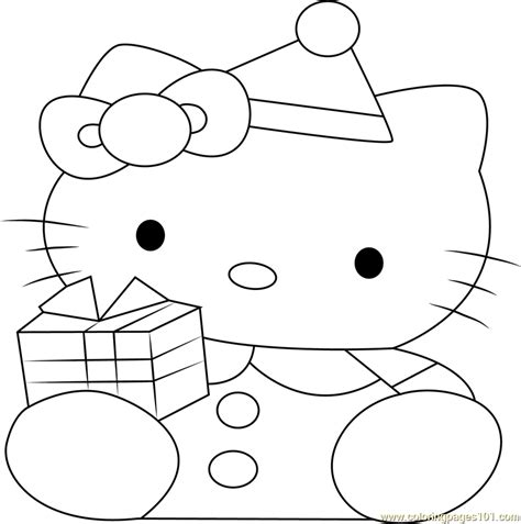 hello kitty christmas coloring pages online hello kitty at christmas coloring page free hello kitty
