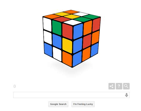 doodle rubik cube commemorates 40th anniversary of rubik s cube with