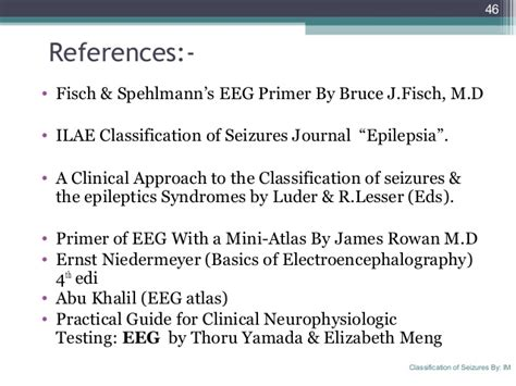 practical guide for clinical neurophysiologic testing eeg books classification of seizures ilae by syed irshad murtaza
