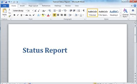 tutorial creating a report template