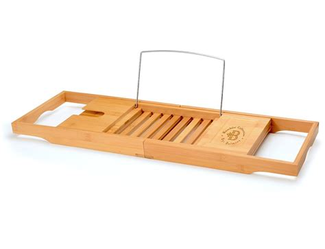 bathtub caddy tray bamb 252 si bamboo bathtub caddy with extendable sides