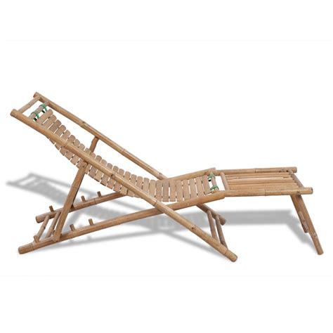 sedie da terrazzo articoli per sedia da terrazzo in bamb 249 con poggiapiedi