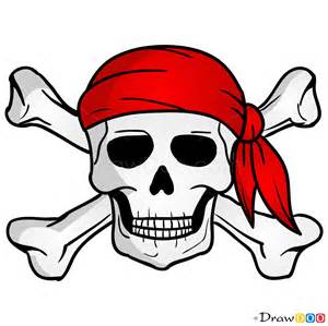 draw jolly roger pirates
