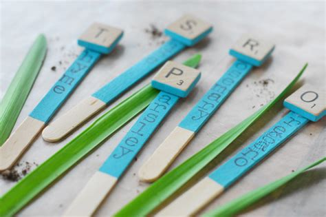 Crafts With Paper And Markers - dress up your garden with letter tile markers