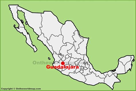 mexico city on the map guadalajara location on the mexico map