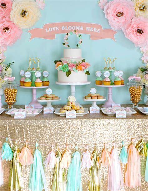 Pastel Candy Buffet, Dessert Buffet, Chalkboard Cake