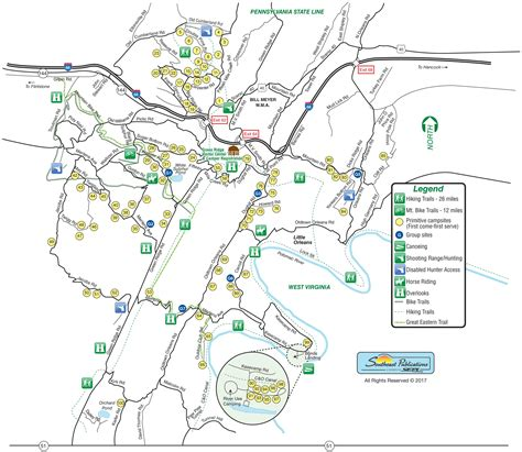maryland forest map green ridge state forest amenities rv parks in