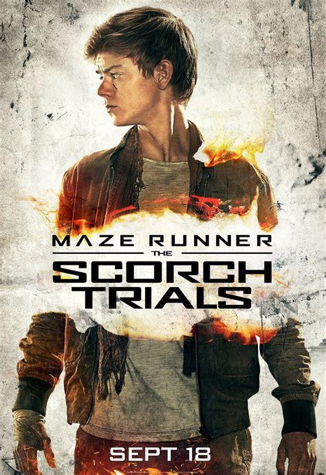 film maze runner 2 maze runner 2 character posters feature dylan o brien