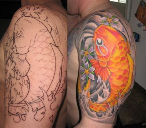 tattoo arm koi 30 best sleeve tattoo designs