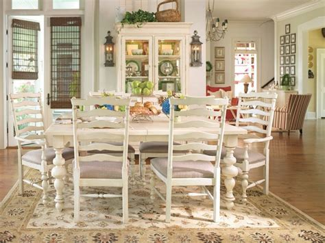 paula deen dining room set paula deen home 7 pc linen paula s rectangular leg table