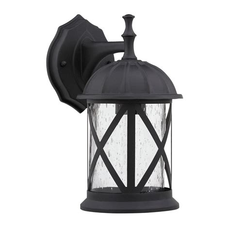 Outside Light Fixtures Transitional 1 Light Black Aluminum Outdoor Wall Fixture Ebay