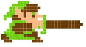 8 bit rug 8 bit link stabbing saving this for a square rug