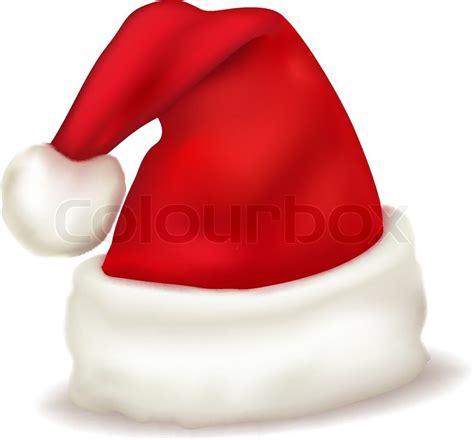 red santa claus hat vector stock vector colourbox