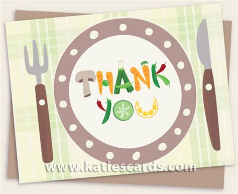 thank you cards for dinner template notecards e cards