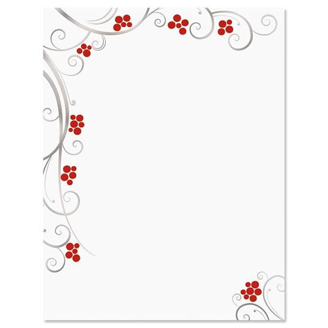 Berries Deluxe Christmas Letter Papers Current Catalog Letter Stationery Templates