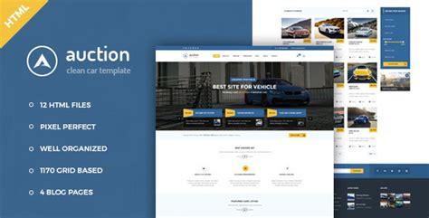 Auction Car Dealer Mechanic Html Template By Cocotemplates Themeforest Auction Site Template