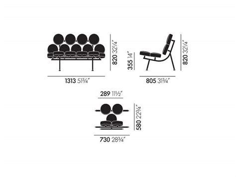george nelson marshmallow sofa 1956 vitra divano marshmallow sofa george nelson 1956 divani